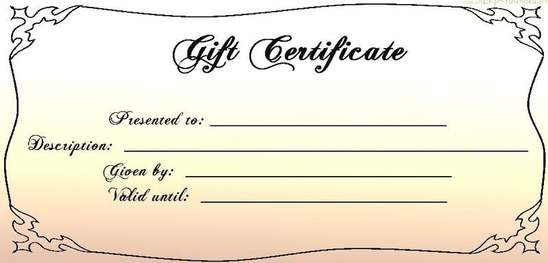 Blank Certificate Templates Gift