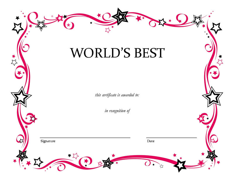 Blank Certificate Templates New