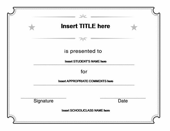Blank Certificate Templates Office 001