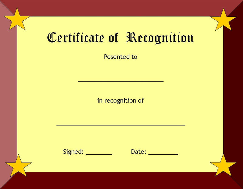 Blank Certificate Templates Recognition