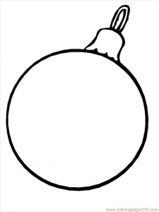 Blank christmas ornament coloring page design your own