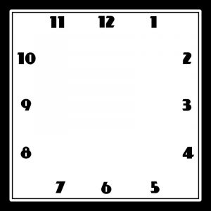 Blank clock face template to practice