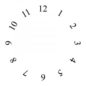 Blank clock face to print
