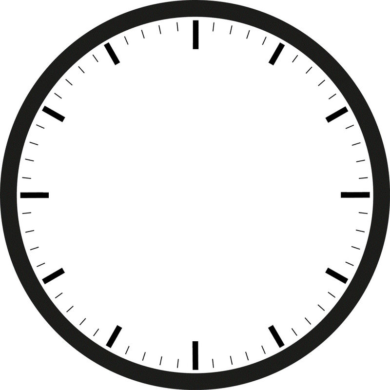 Blank Clock Template Picture