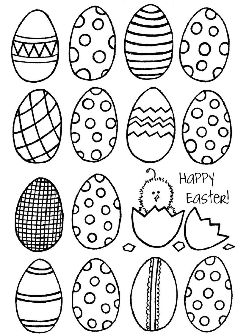 Blank Easter Egg Template Coloring