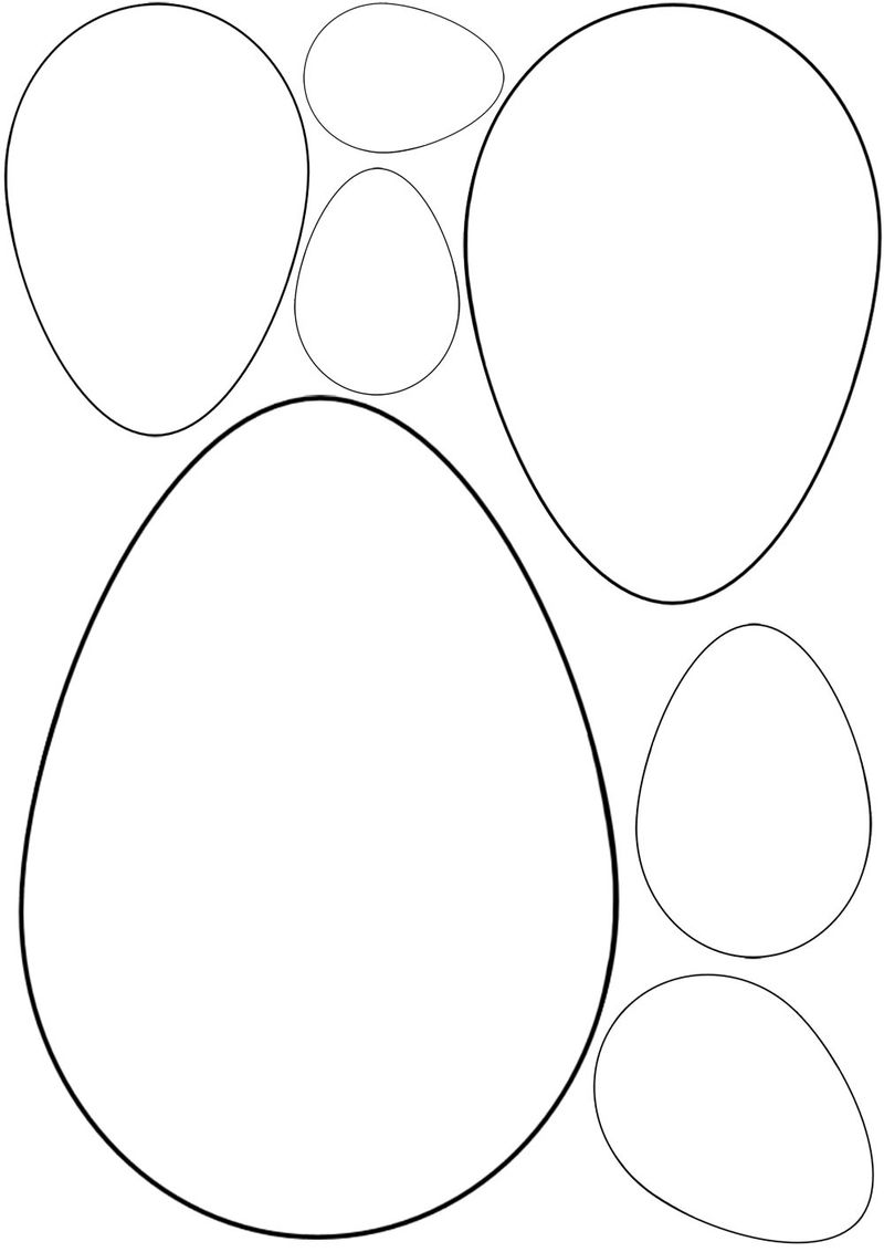 Blank Easter Egg Template Cut Out 001