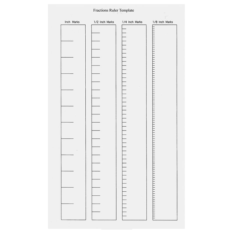 Blank Ruler Template Page 001