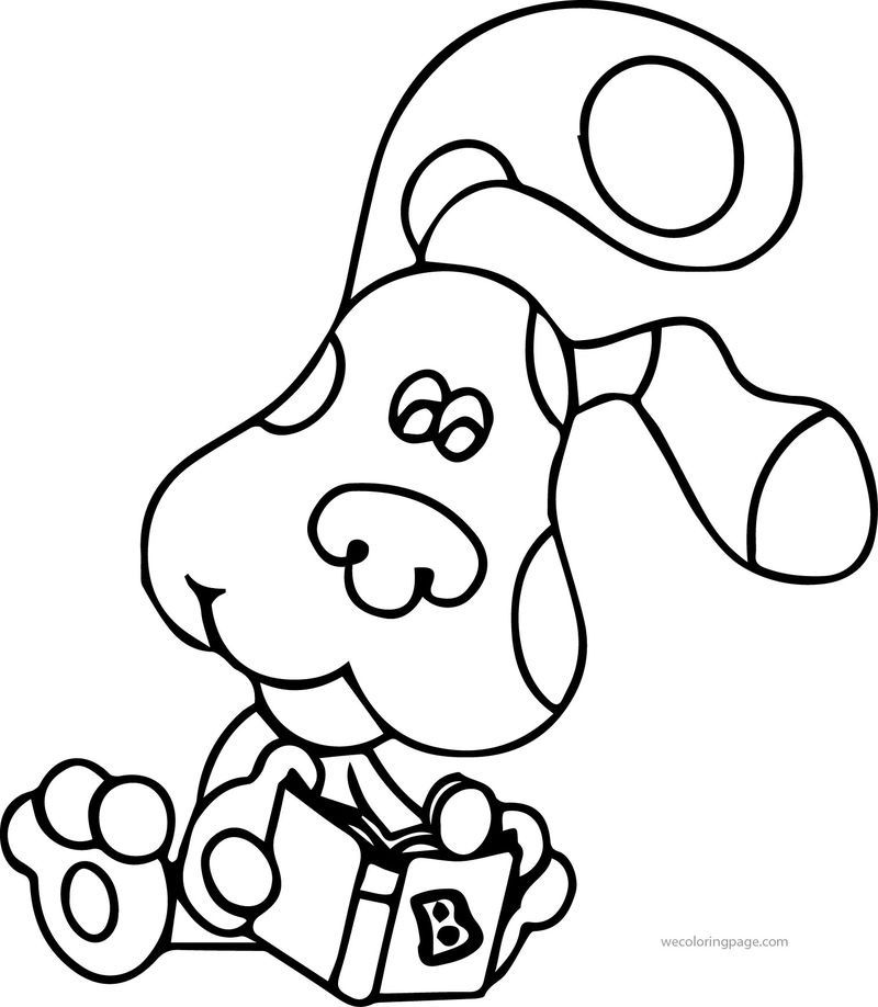 Blues Clues Reading Book Coloring Page