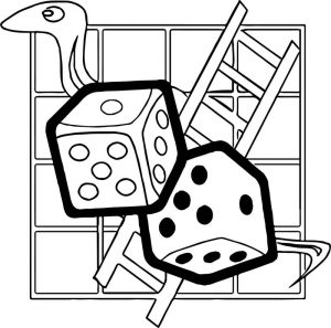 Board animal coloring page