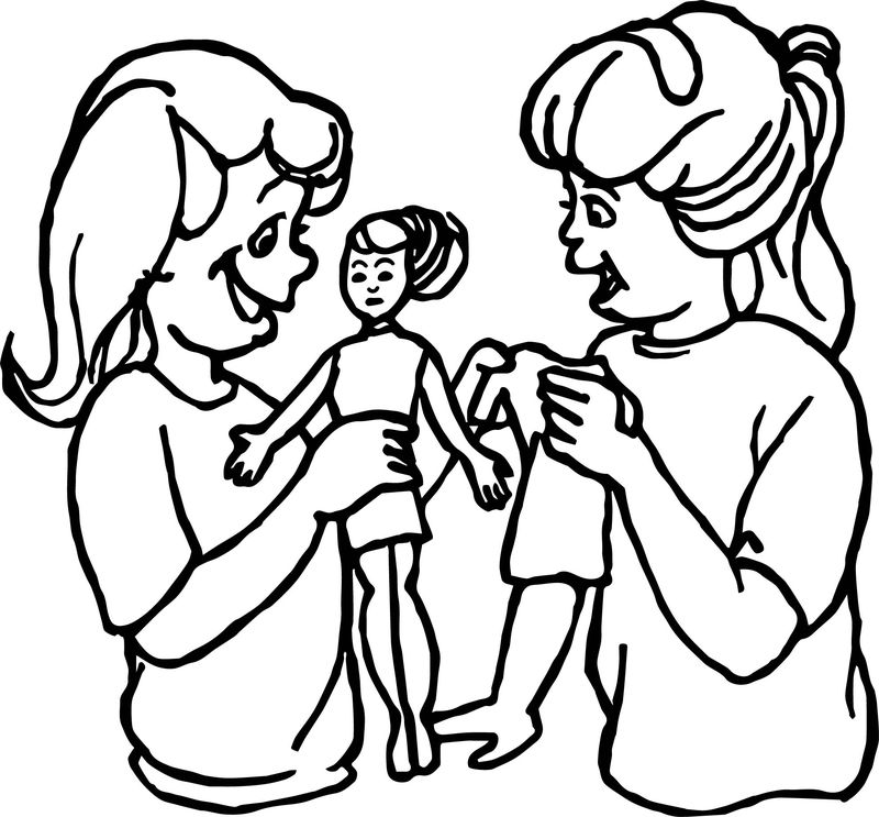 Board Toy Girl Coloring Page