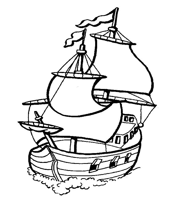 Boat Coloring Pages For Kids
