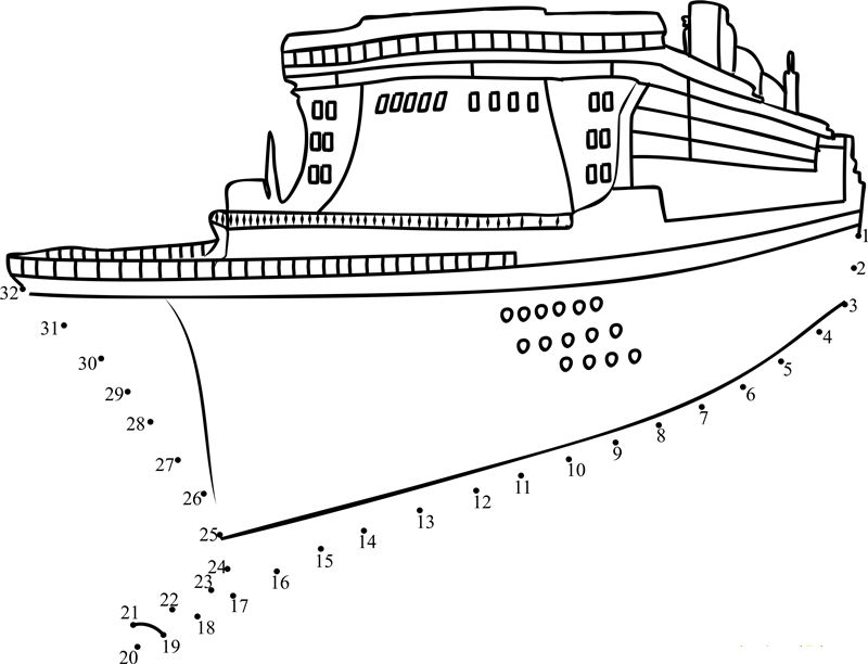 Boat Dot To Dot Page 001