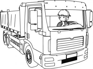 Bob the builder driving truck coloring page