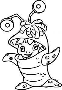 Boo monster coloring pages