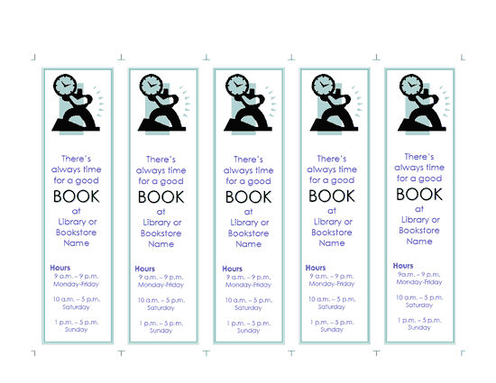 Bookmark Template Word Unique 1 001