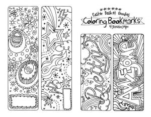 Bookmarks about reading coloring 001