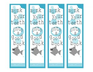 Bookmarks about reading shark 001
