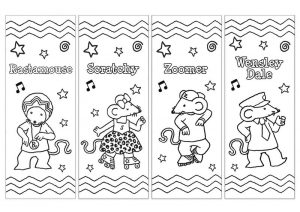 Bookmarks to color for kids 001