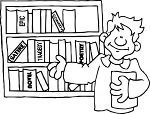 Books amp bookshelves for kids amp teachers kids coloring page