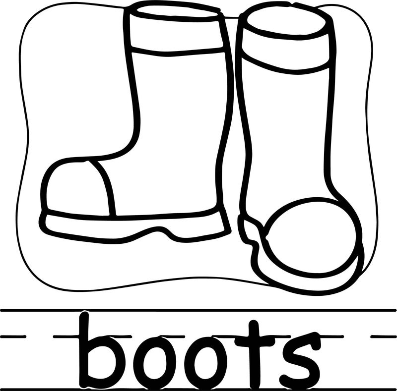 Boots Abc Teach Coloring Page