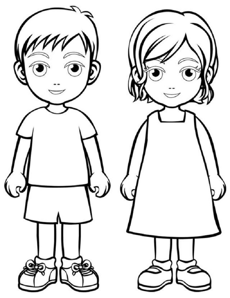 Boy And Girl Templates Kids