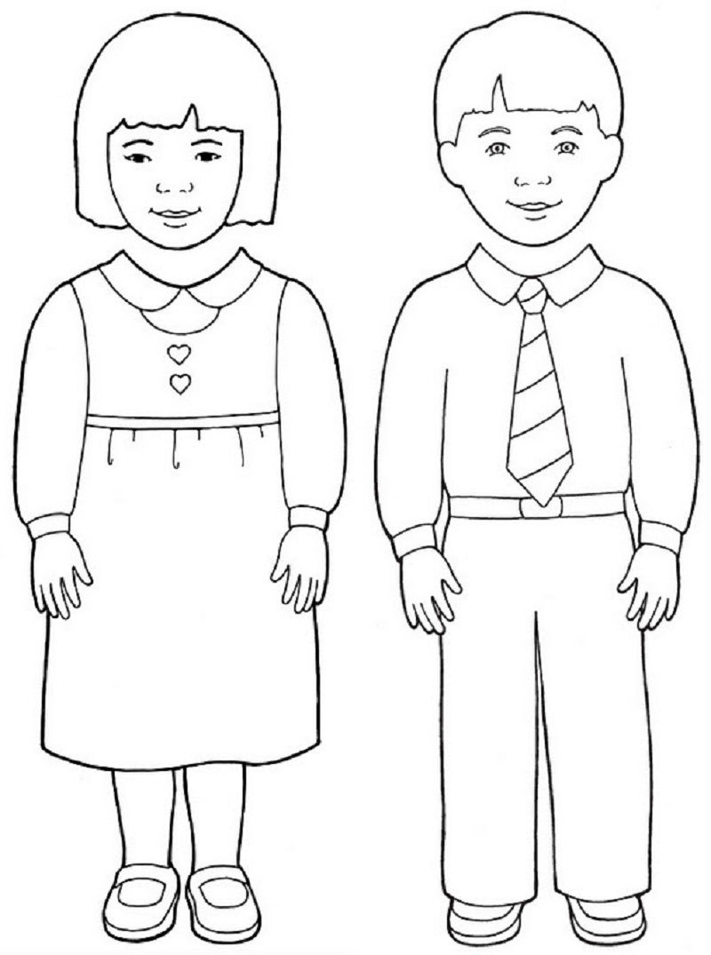 Boy And Girl Templates Model 001
