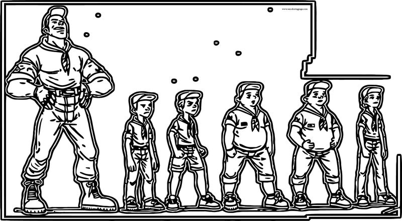 Boy Scout Character Design Coloring Page