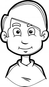 Boy soccer face coloring page