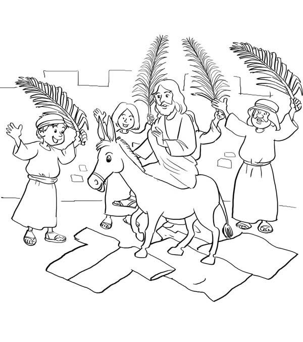 Branches Palm Sunday Coloring Pages