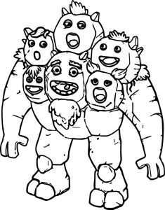 Breeding stone monsters coloring page