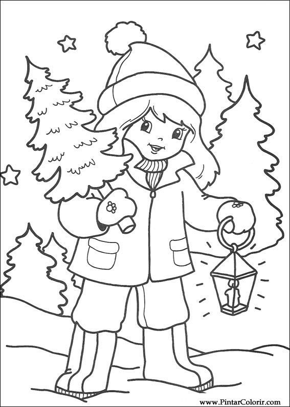Bringing Home The Christmas Tree Coloring Page