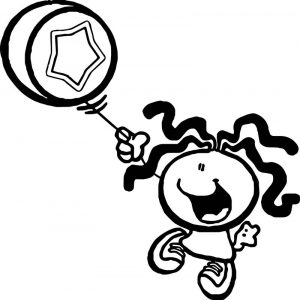 Bubblegum girl kids kids coloring page