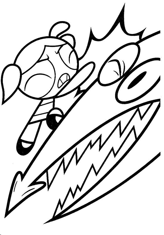 Bubbles Punch Powerpuff Girls Coloring Pages