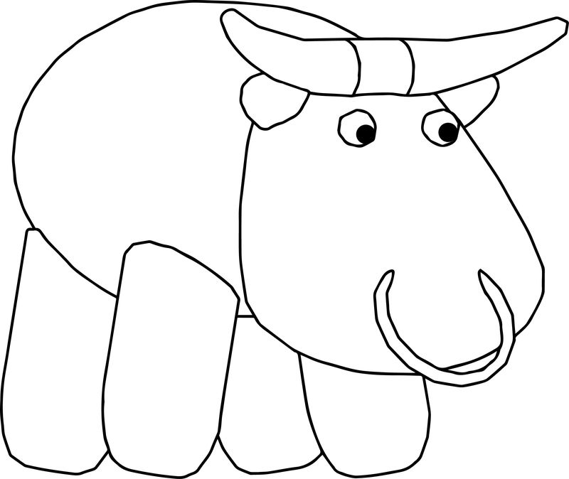 Bull Cartoon Coloring Page