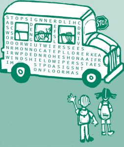 Bus wordsearch for kids