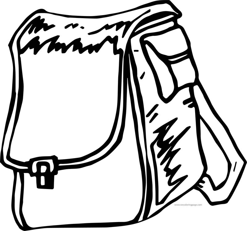 But School Bag Coloring Page