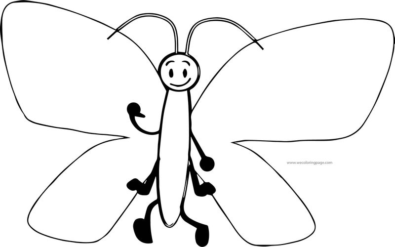 Butterfly Coloring Page Gif Format Cartoon