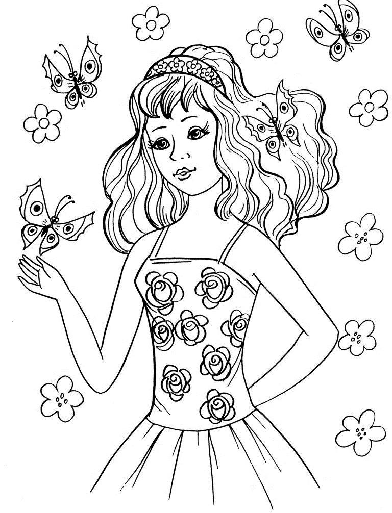 Butterfly Coloring Pages For Girl 001