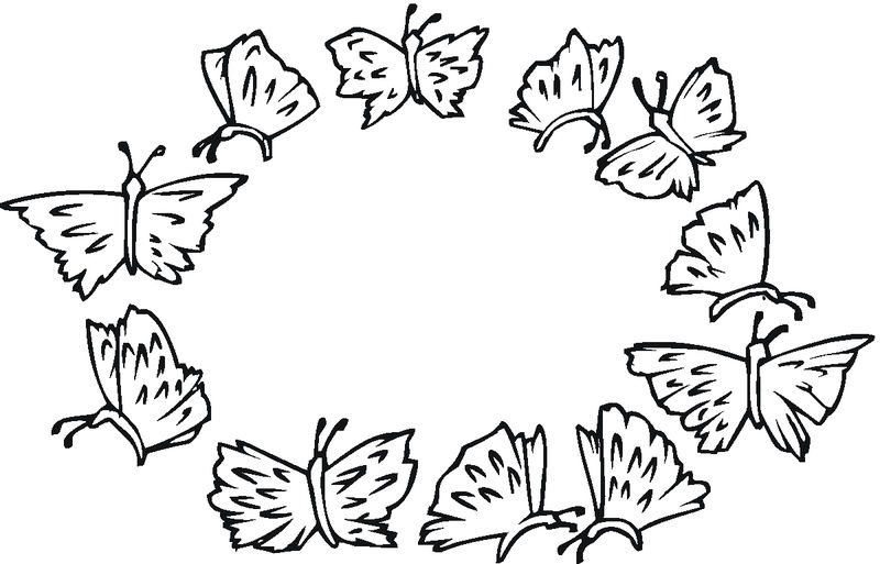 Butterfly Coloring Pages For Kids Printable