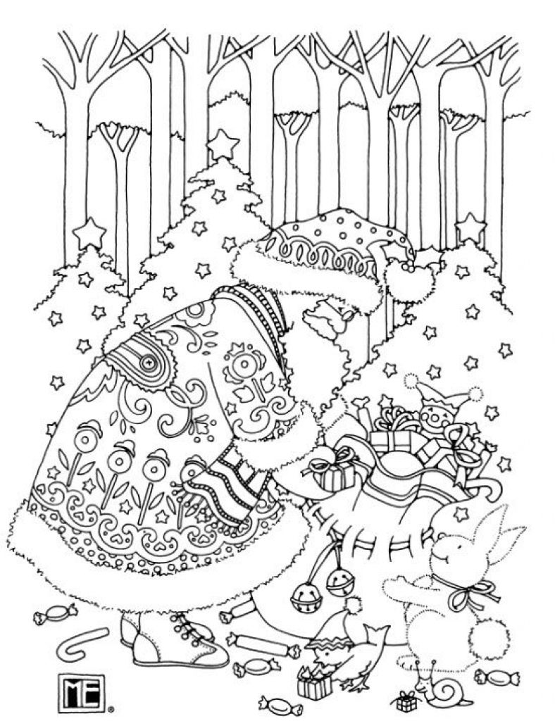 By Mary Engelbreit Christmas Coloring Pages For Adults