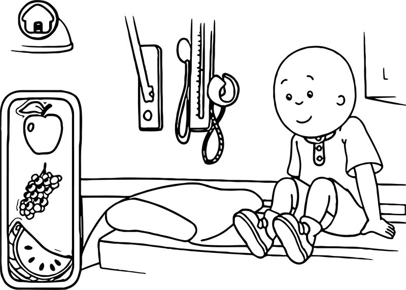 Caillou Check Up Doctors Office Games Kids Coloring Page