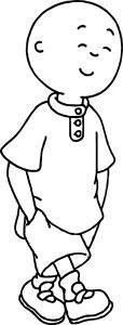 Caillou happy walk coloring page