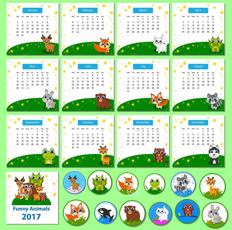 Calendar 2017 For Kids Image 001