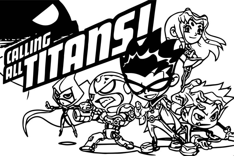 Calling Titans Games Free Cartoon Network Coloring Page