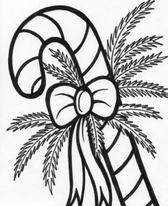 Candy cane coloring pages pictures