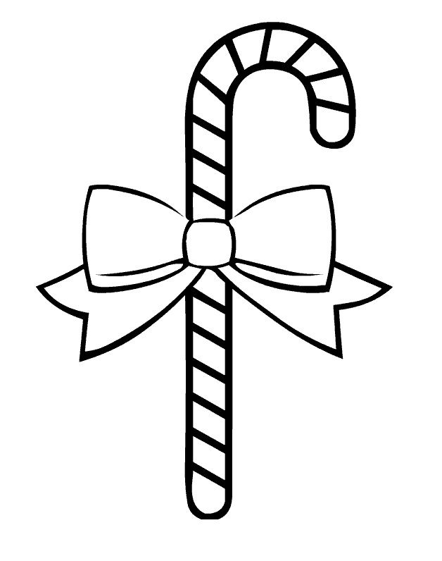 Candy Cane Coloring Pages - Coloring Sheets