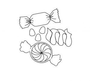 Candy coloring pages 001
