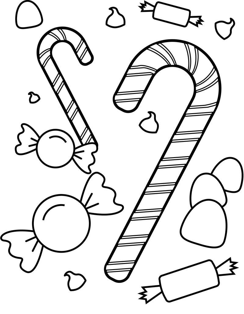Candy Coloring Pages For Kids 001