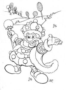 Candy land color pages king candy 001