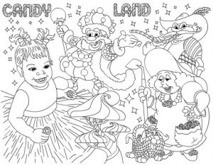 Candyland coloring pages 1 001